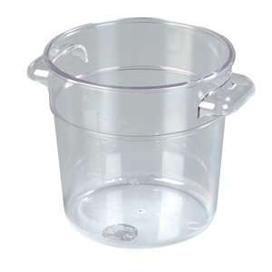 Clear Plastic   Round Food Storage Containers   One (1