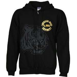 LSU Tigers Hoody Sweatshirts  LSU Tigers Black Zippity Full Zip Hoody
