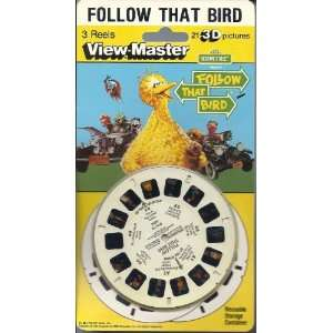 Sesame Street Follow That Bird View Master 3D 3 Reel Set Toys & Games