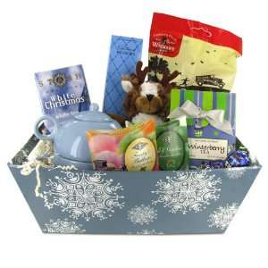 Christmas Gift Basket   Rudolphs Blue Christmas  Grocery