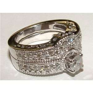 25 carats DIAMOND ring and wedding band set gold: Everything Else